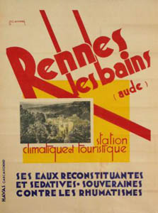 A Rennes-les-Bains poster by Mourens from around 1930
