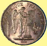 1898 French Gold Coin featuring a cockeral.