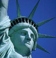 Detail of the Statue of Liberty's crown