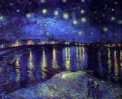 Van Gough's Stary Night Over the Rhone