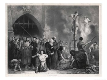 Victims of the Inquisition Led to Their Act of Faith