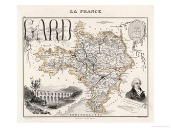 Map of Gard France