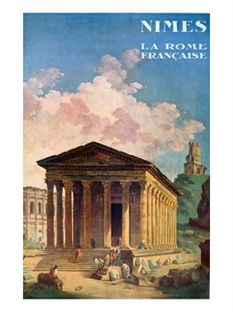 Poster Advertising Nimes, the French Rome, circa 1930