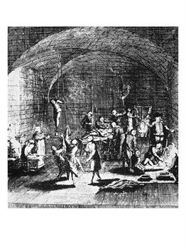 Torture Chamber of the Inquisition, Copy of an Illustration