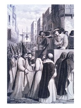 Accompanying the Prisoners Condemned by the Inquisition Court to be Burnt at the Stake, 1610