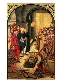 The Burning of the Books or St. Dominic De Guzman and the Albigensians