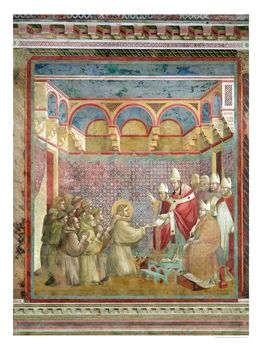 "St. Francis Receives Approval of His ""Regula Prima"" from Pope Innocent III in 1210, 1297-99"